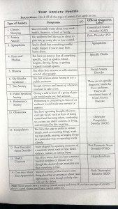 Anxiety Profile Chart