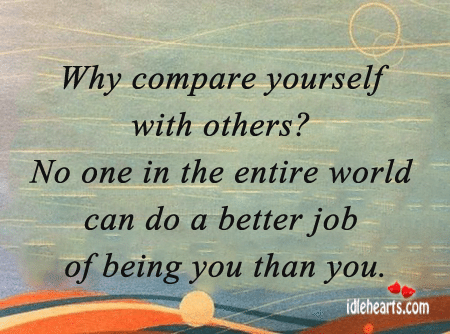 Comparing Yourself