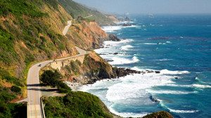 coastal highway driving