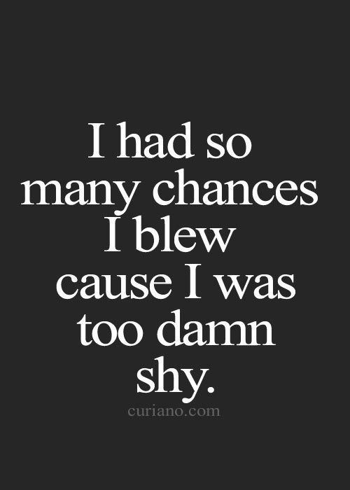 Blew My Chance