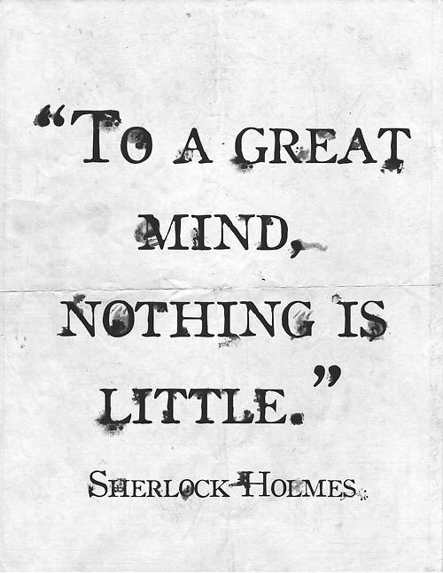 Sherlock Holmes Quote