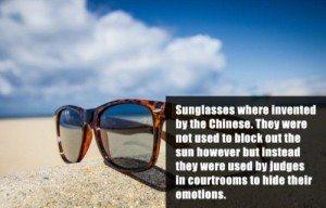 Sunglasses Origination