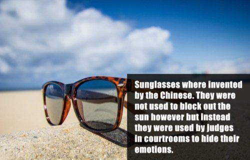 Sunglasses Origination