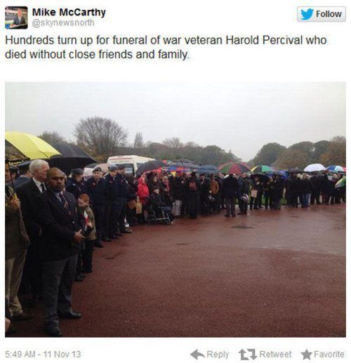 Veterans Gather For Harold Percival Funeral