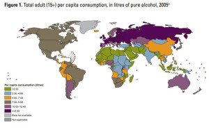 Booze Comsumption Around The Globe