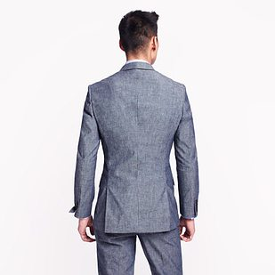 Double Vented Suit Back