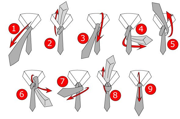 Full Windsor Tie Knot How To