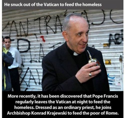 Pope Francis Feeds Homeless