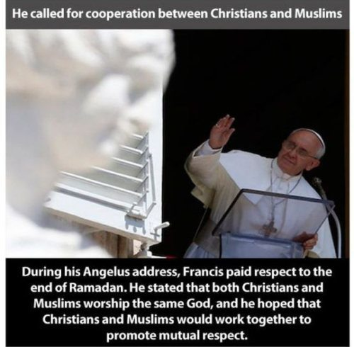 Pope Respects Islam