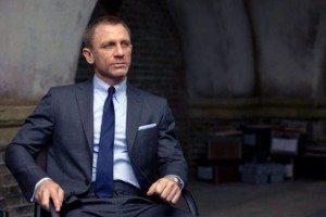 James Bond Unbutton Suit Sitting Down