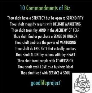 10 Commandments of Buisness