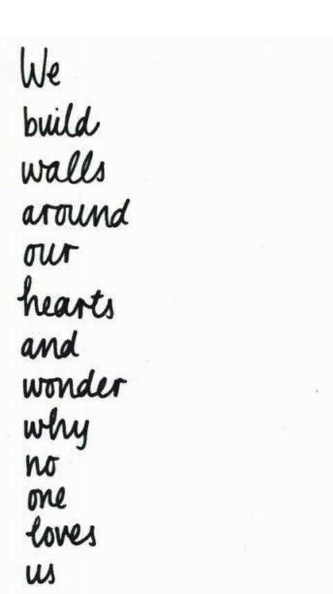 Build Walls Around You