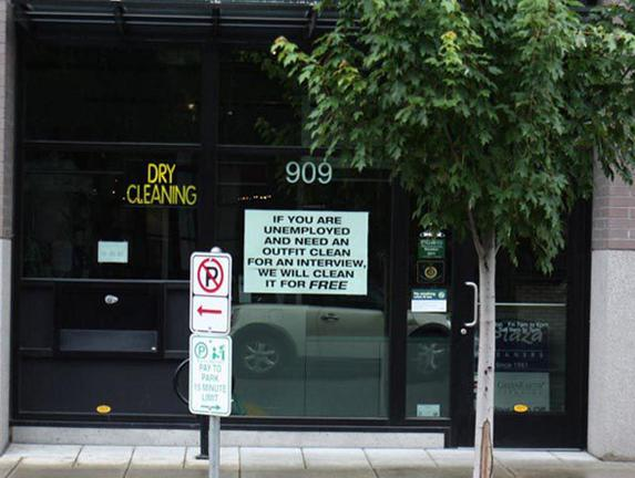 Free Dry Cleaning For Homeless