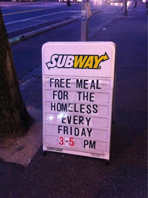 Free Meals Subway