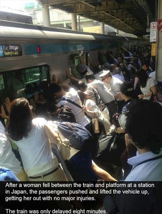 Lady Saved By Passengers