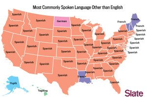 most commonly language beside english