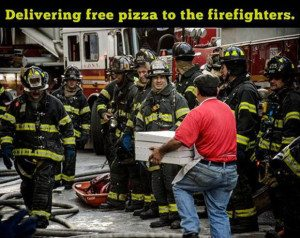 Free pizza for firefighters