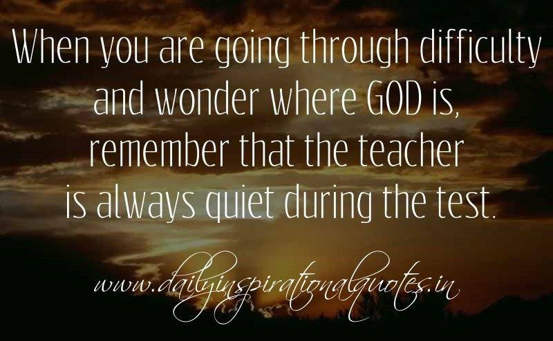 Silent teacher God