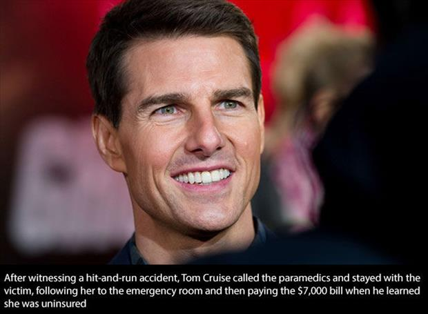 Tom Cruise is a good guy