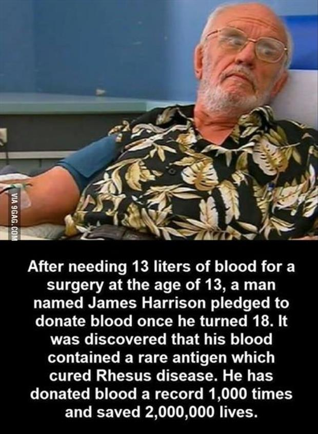 Saves thousands of lives donating blood