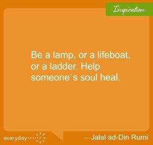 Be a lamp or a lifeboard