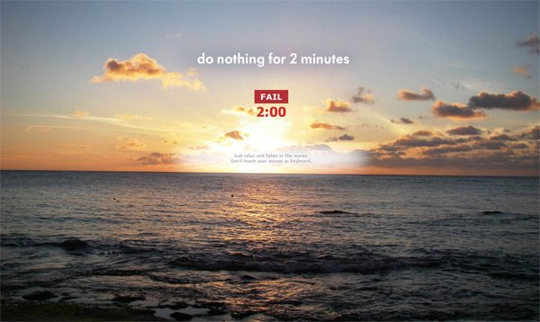 Nothing for 2 minutes