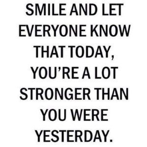 smile and move on