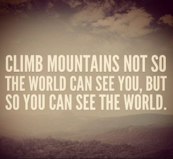 climb lifes mountains