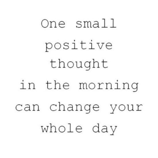 one small thought has power