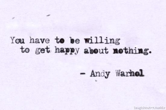 willing to be happy