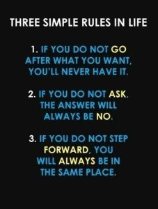 Three steps for success in life