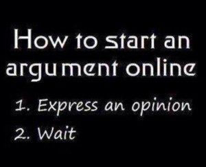 start an argument