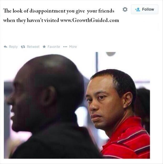 unhappy tiger woods