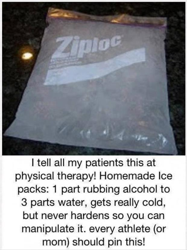 home made ice pack