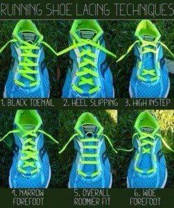 running shoe tricks