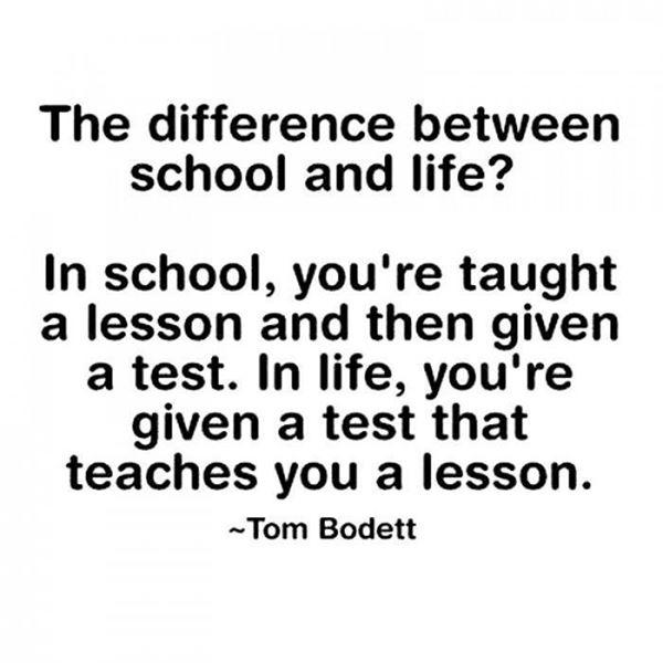 school lessons vs life lessons