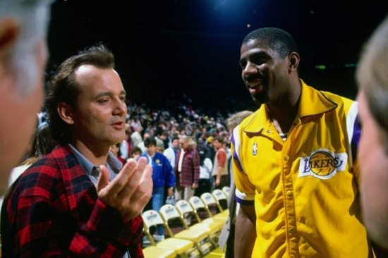 magic johnson and bill murray
