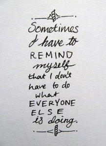 reminded myself