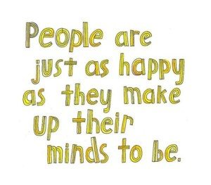 people can be always happy