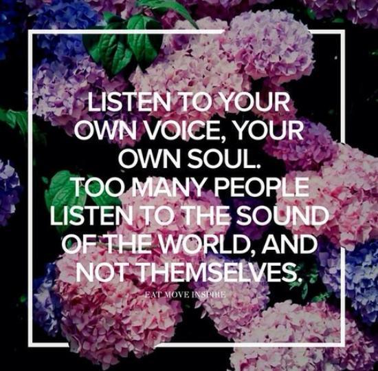 listen to that voice