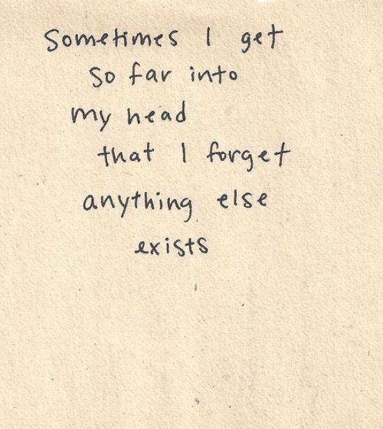 far in my head