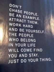 chase people with success