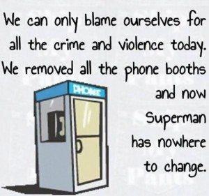 phone booth is gone
