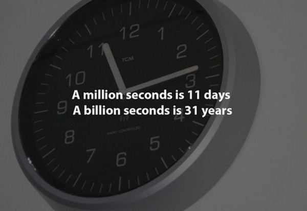 a million seconds