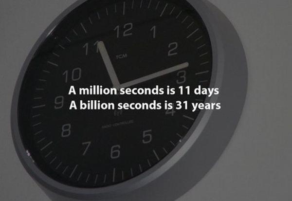 a million seconds