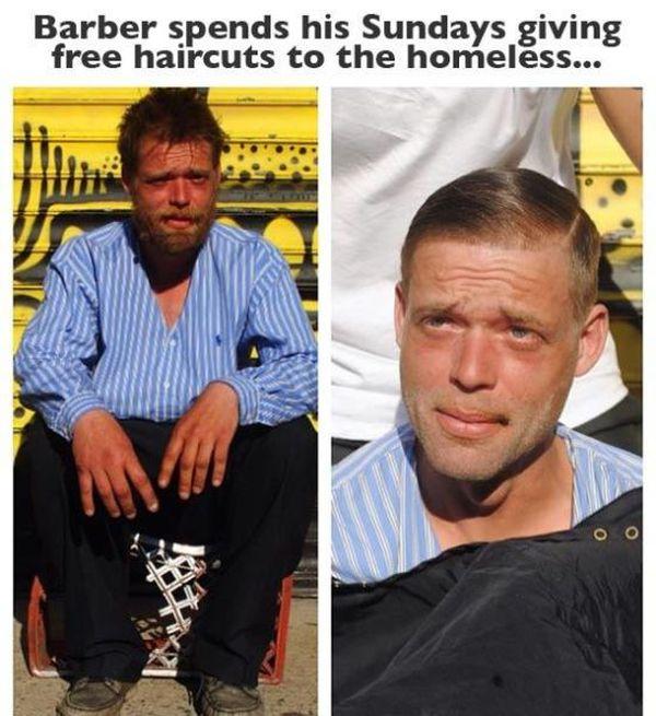 handsome homeless man