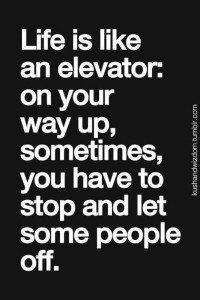 elevator goes up