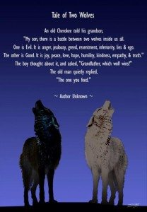 feed the right wolf