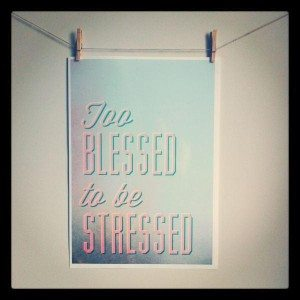 blessed and stressed