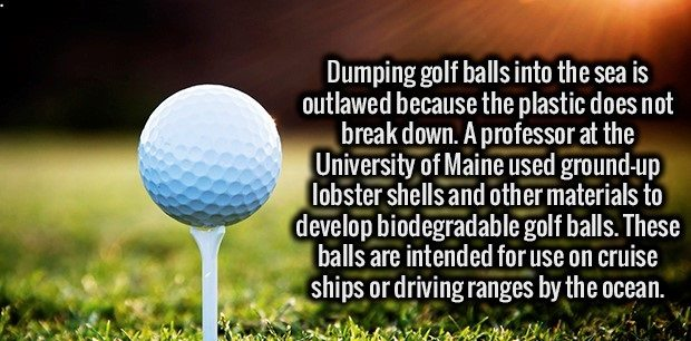 golf balls are industructible